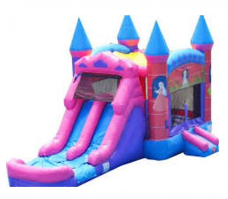 5 in 1 Double Slide Princess Castle (Wet or Dry)