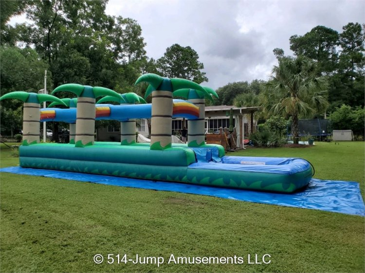 Double Tropical Slip n Slide w/ pool