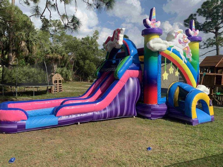 Double Slide Unicorn Splash Combo (Wet or Dry)